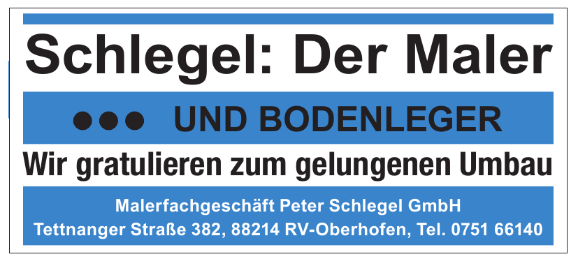 Malerfachgeschäft Peter Schlegel GmbH