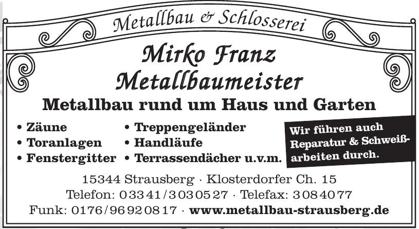 Mirko Fran z Metallbaumeister
