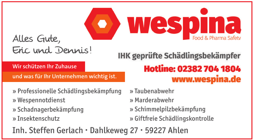 Wespina Food & Pharma Safetv