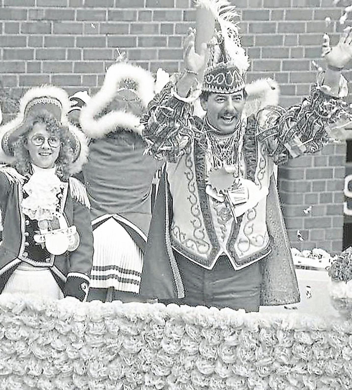 Der jetzige Präsident Uwe Wuttke regierte 1993 mit Ehefrau Karin die Narren in Sendenhorst.