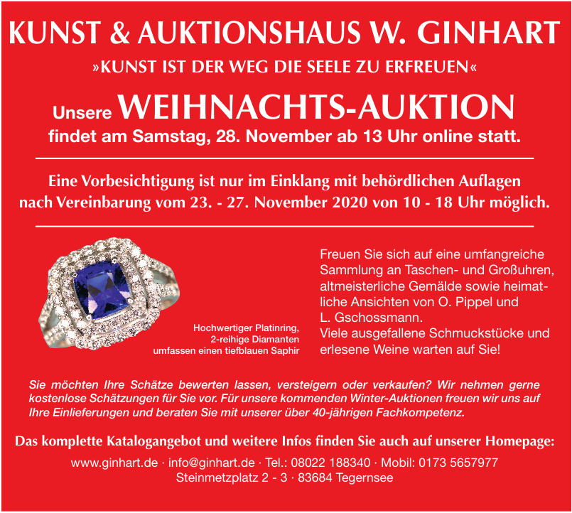 Kunst & Auktionshaus Ginhart
