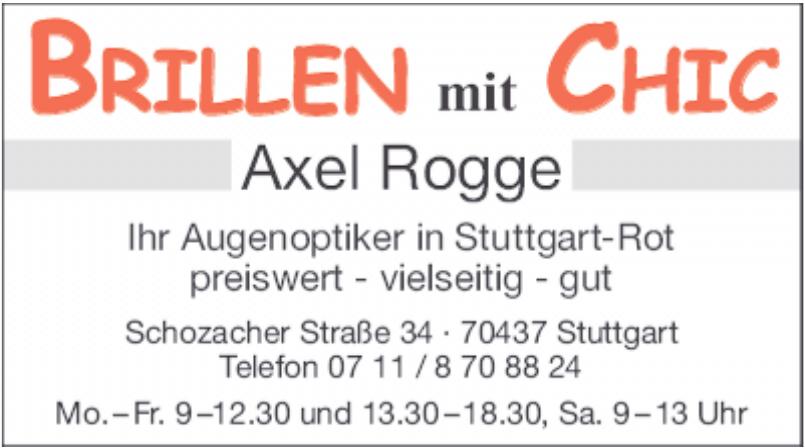 Brillen mit Chic Axel Rogge