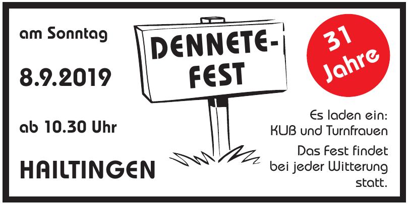 Dennete-Fest - 31 Jahre