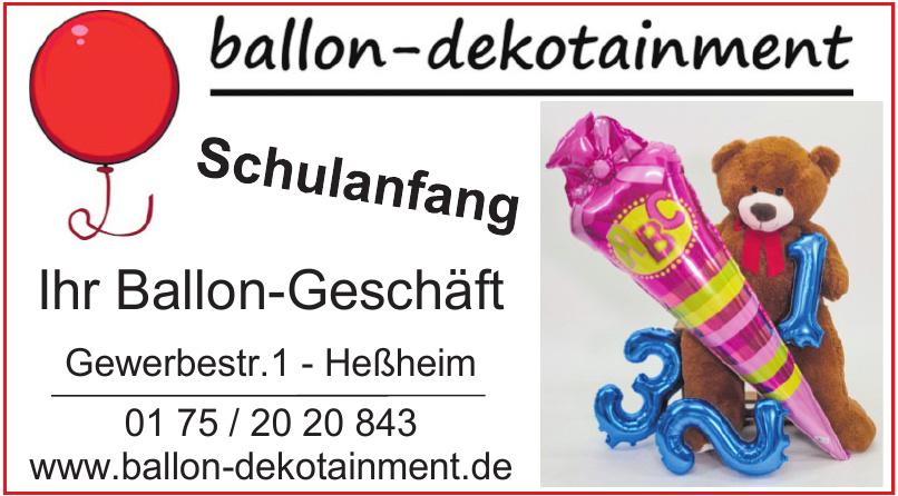 Ballon Dekotainment