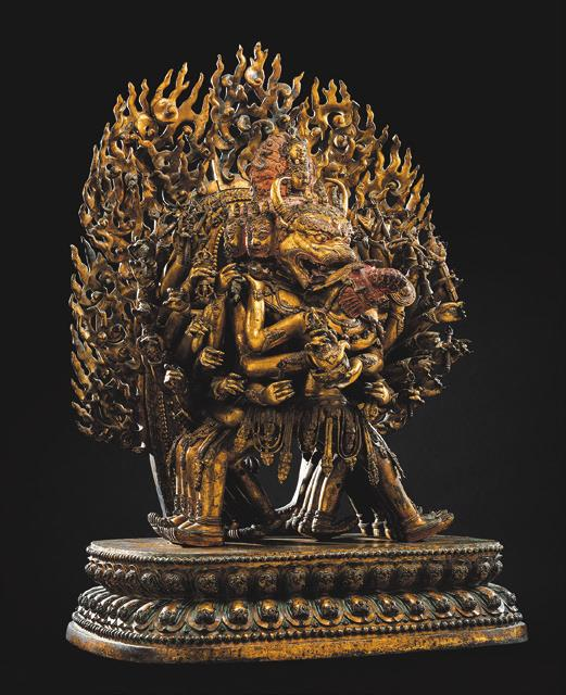Bronze des Vajrabhairava, China, 1473. Foto: Nagel Auktionen