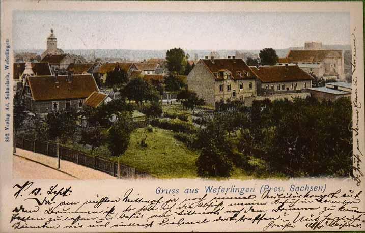 Diese Ansicht von Weferlingen stammt aus der Zeit um 1900.
