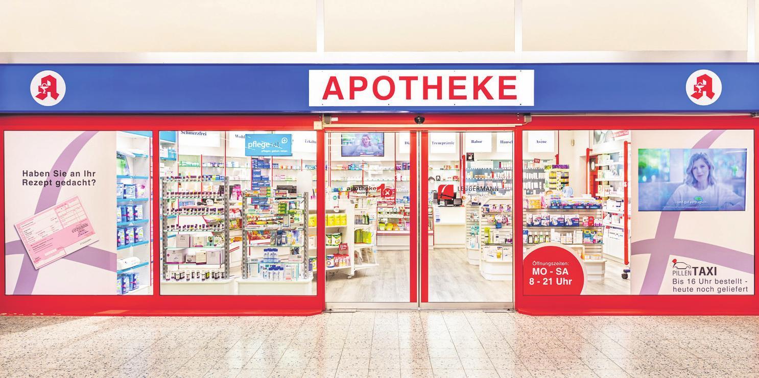Die Apotheke 1extra im Real-Markt ist täglich von 8 bis 21 Uhr geöffnet Bild: zVg
