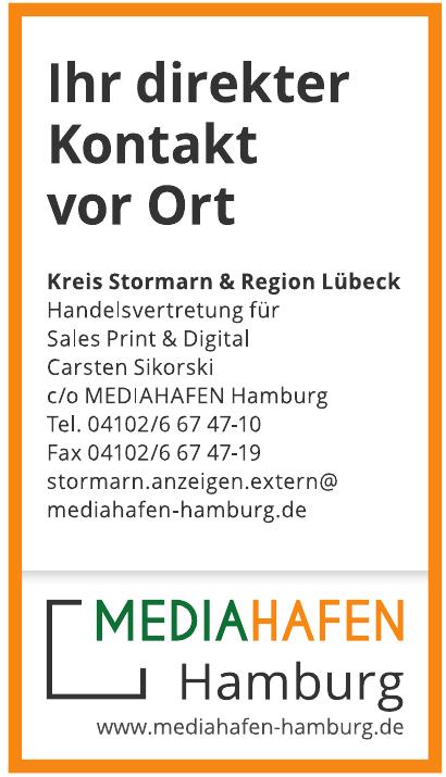 Handelsvertretung für Sales Print & Digital Carsten Sikorski c/o MEDIAHAFEN Hamburg