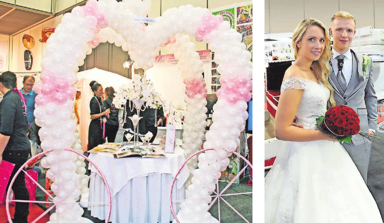 Aufwendig gestaltete Hochzeitslocations sind mittlerweile Teil der meisten Hochzeiten. Natürlich ist auch Brautmode zu sehen.