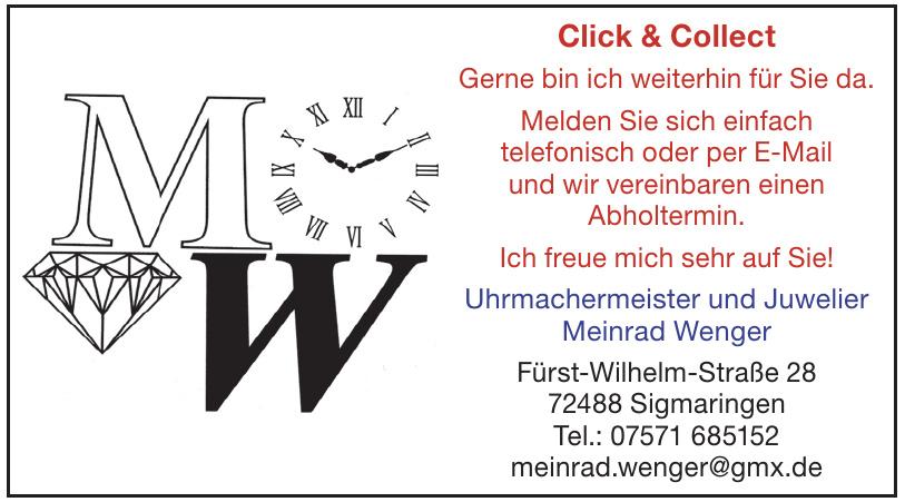 Uhrmachermeister und Juwelier Meinrad Wenger