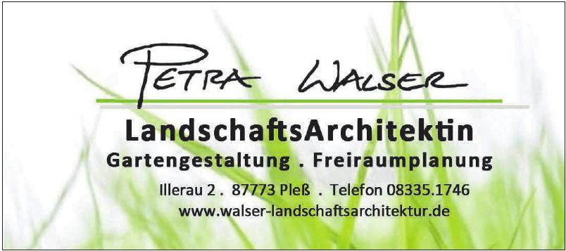 Landschafts Architektin Petra Walser