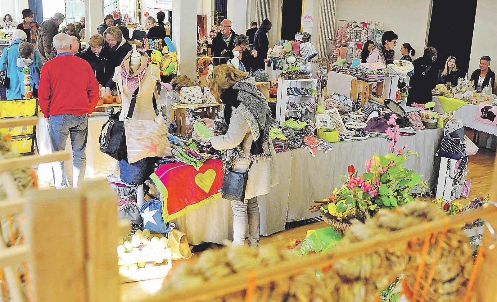 Beim Hobby- und Frühlingsmarkt können die Besucher wieder die kreativsten Hobbykunstwerke bestaunen und erwerben. Photowerk