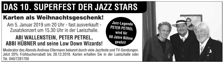 Das 10. Superfest der Jazz Stars