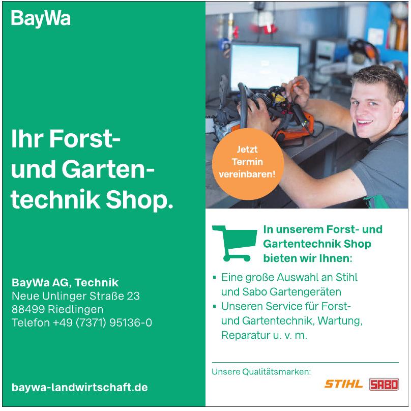 BayWa Ag, Technik