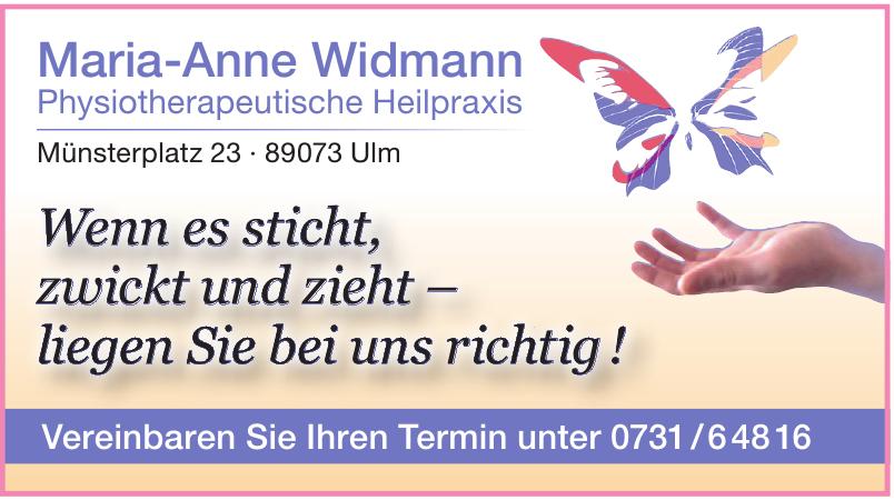 Maria-Anne Widmann Physiotherapeutische Heilpraxis