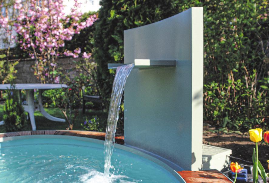 Gerd Walter und sein Team haben ein Händchen dafür, das richtige Ambiente zu schaffen – zum Beispiel mit einem Brunnen für den Garten. Fotos: Walter