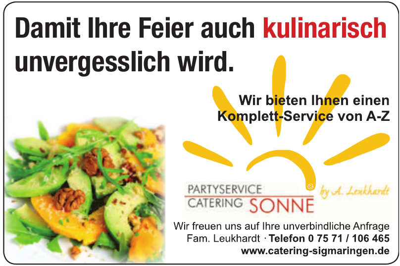 Sonne Partyservice & Catering by Alexander Leukhardt