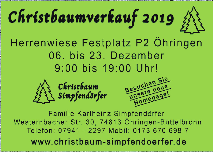 Christbaum Simpfendörfer