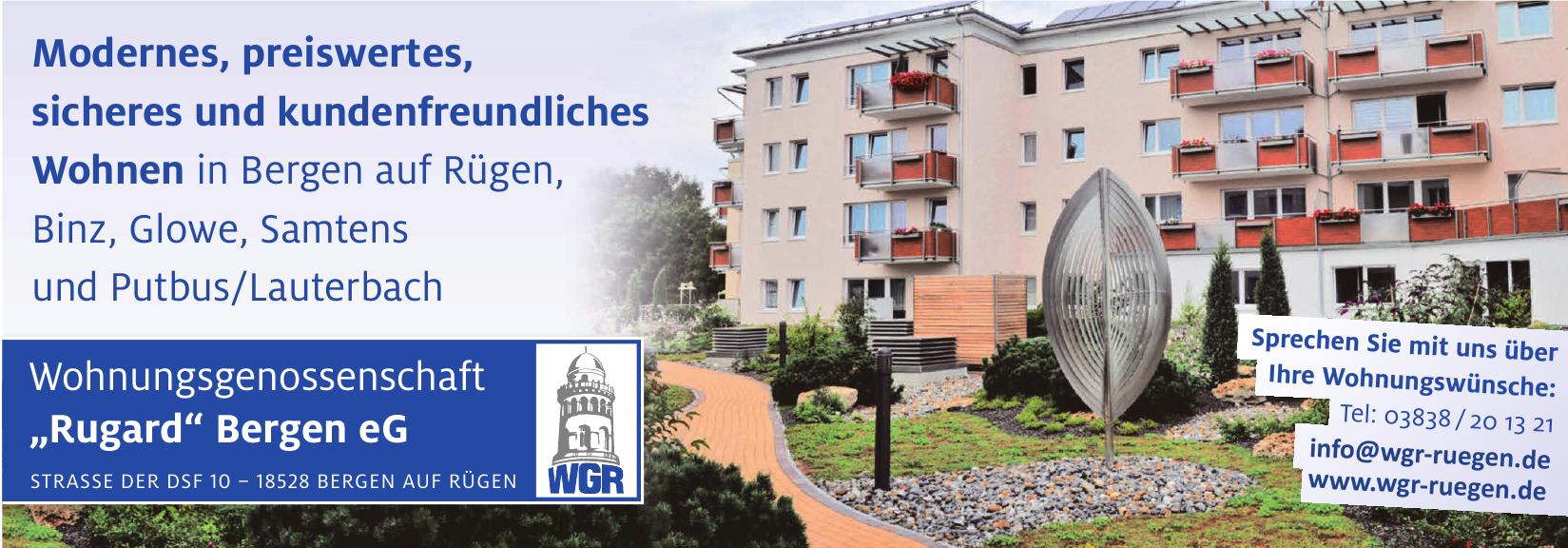 """Wohnungsgenossenschaft """"Rugard"""" Bergen eG"""