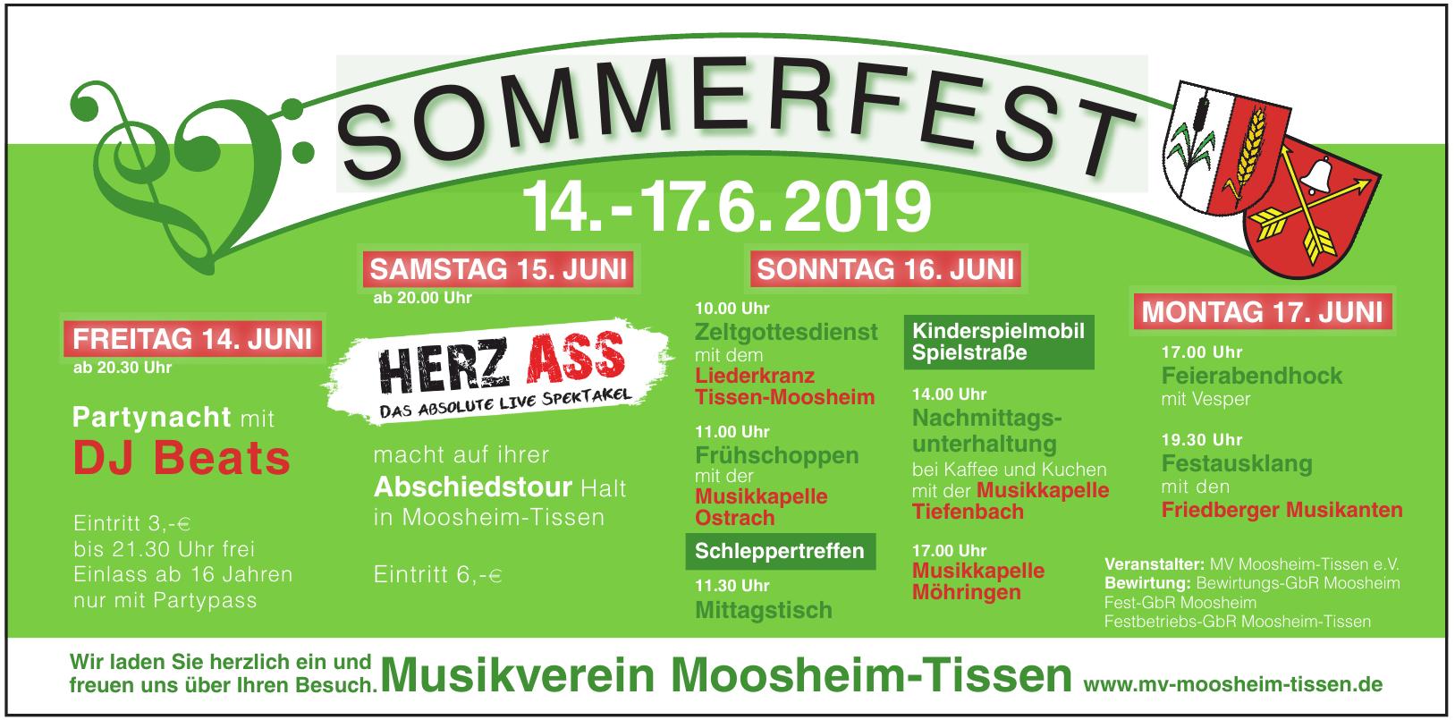MV Moosheim-Tissen Sommerfest