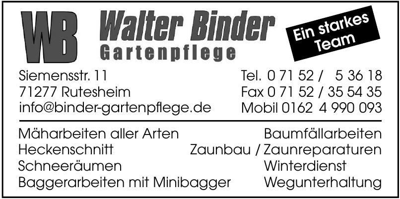 WB  Walter Binder Gartenpflege