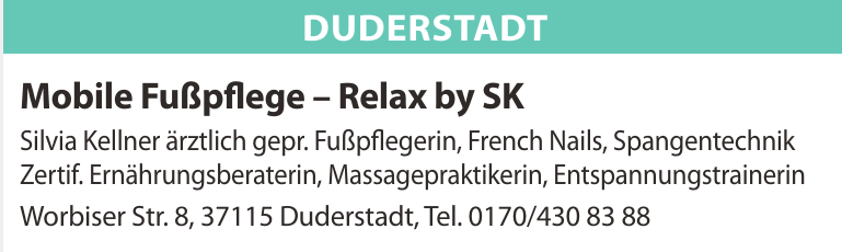 Mobile Fußpflege – Relax by SK
