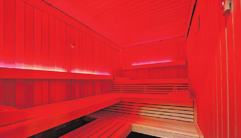 Anstelle des früheren Dampfbads ist der Wellnessbereich nun mit einer modernen Infrarotkabine ausgestattet.