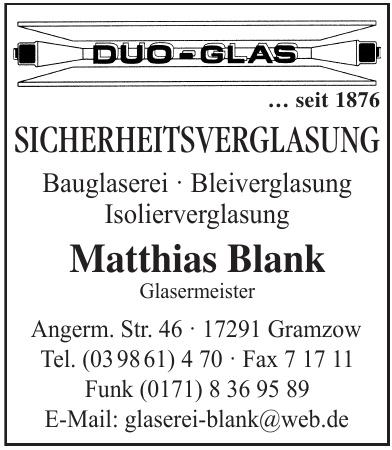 Duo-Glas Matthias Blank
