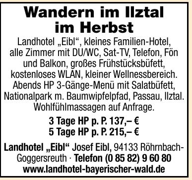 "Landhotel ""Eibl"""