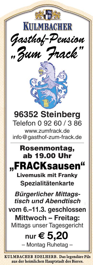 """Gasthof-Pension """"Zum Frack"""""""