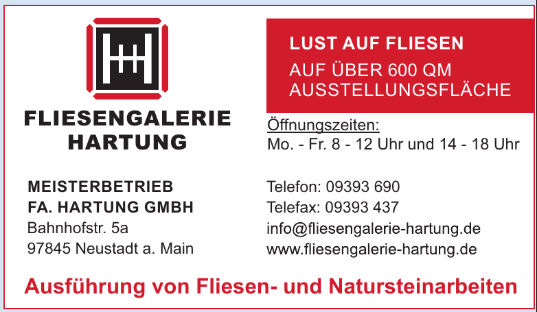Fliesengalerie Hartung - Meisterbetrieb Fa. Hartung GmbH