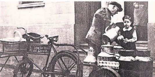 Früher wurde auch in Kempen die frische Milch noch in Kannen ausgeliefert.