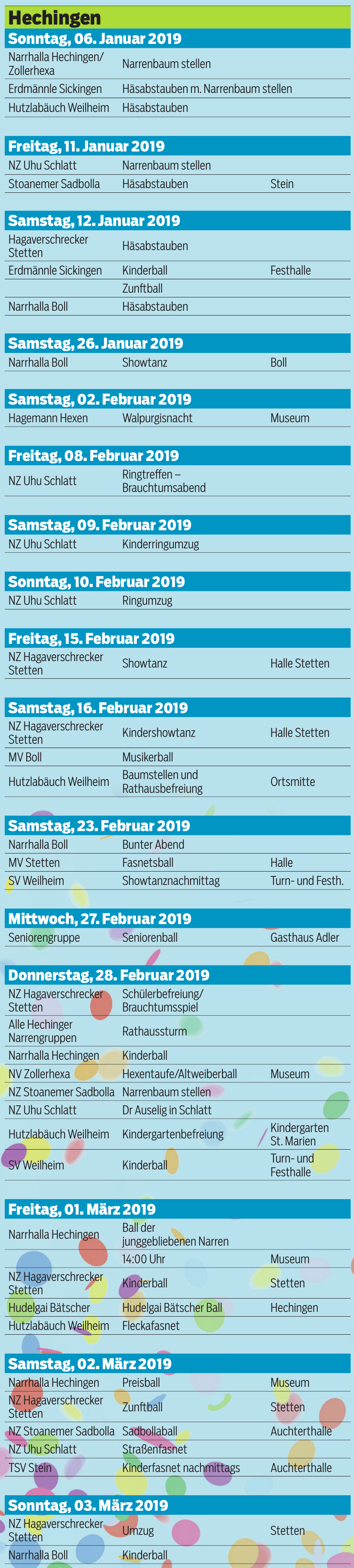 Fasnetskalender 2019 Image 1