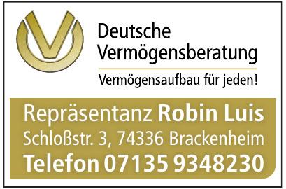 Robin Luis Repräsentanz Deutsche Vermögensberatung