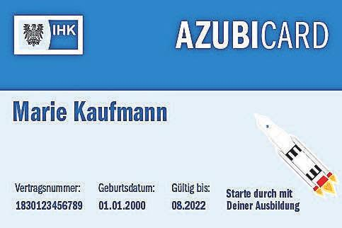Azubi-Card: Vergünstigungen für die Lehrzeit. FOTO: IHK POTSDAM