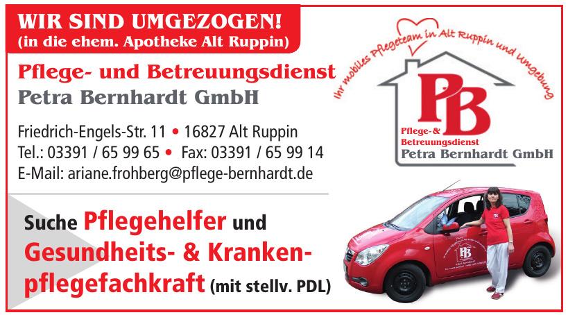 Pflege- und Betreuungsdienst Petra Bernhardt GmbH