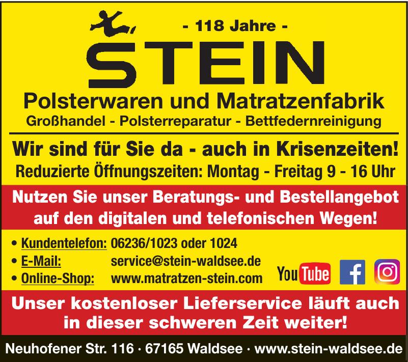 Stein Polsterwaren und Matratzenfabrik