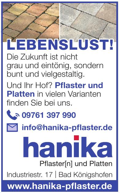 Hanika Pflaster(n) und Platten