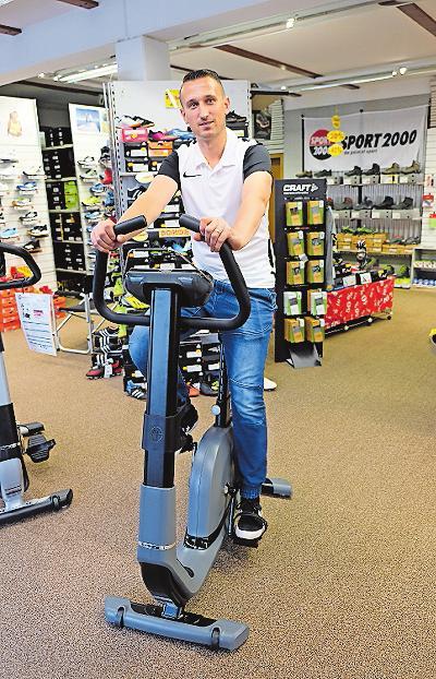 Im Sporthaus Frey können Fitnessgeräte getestet werden. ARCHIVFOTO: TKN