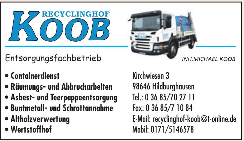 Recyclinghof Koob