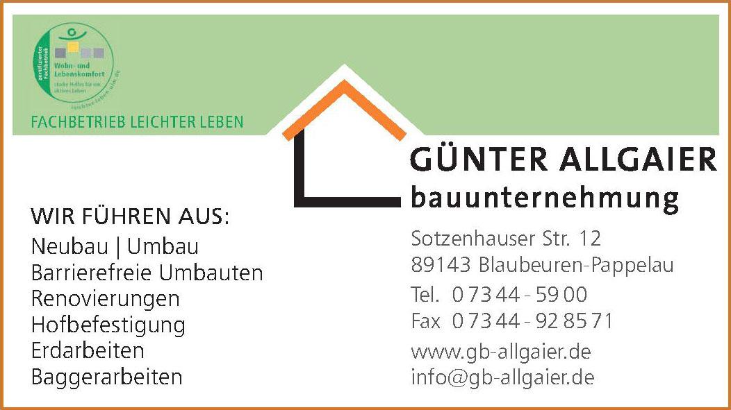 Günter Allgaier Bauunternehmung