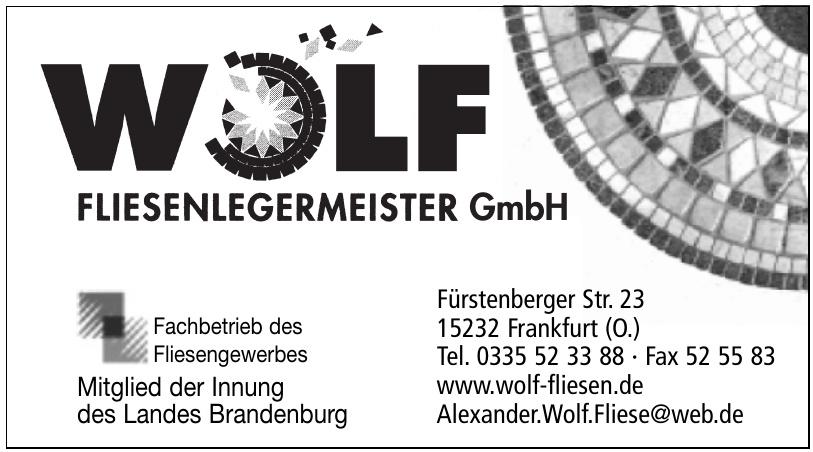 Wolf Fliesenlegermeister GmbH