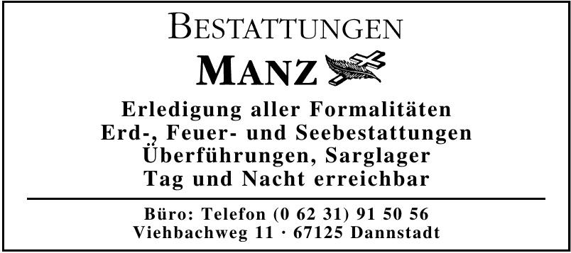 Bestattung Manz