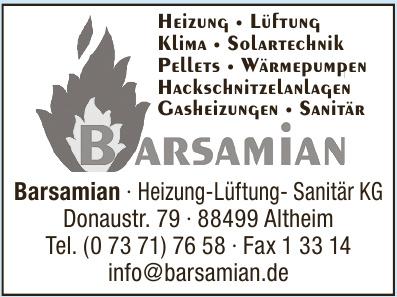 Barsamian · Heizung-Lüftung- Sanitär KG