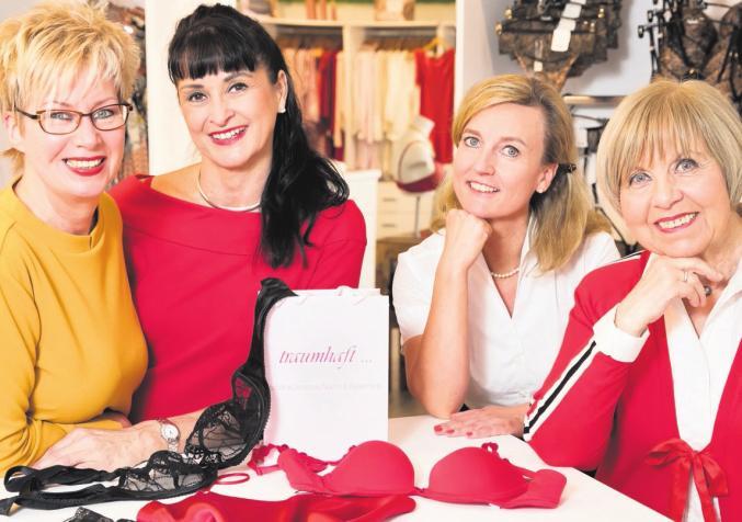 Von links: Birgit Schäfer, Simone Förster, Ursula Duncker (Inhaberin), Sybille Faltyn