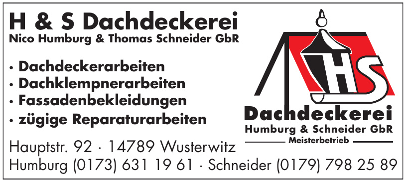 H & S Dachdeckerei Nico Humburg & Thomas Schneider GbR