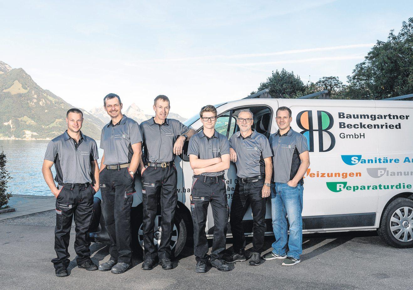 Von links nach rechts: Andreas Gander, Markus Gander, Anton Gander, Andrin Doniat, Viktor Baumgartner, Beat Baumgartner STEFANIE MURER FOTO UND MAKEUP