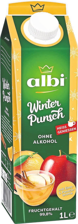 Der neue albi-Winter-Punsch sorgt dieses Jahr für heiße Weihnachten.
