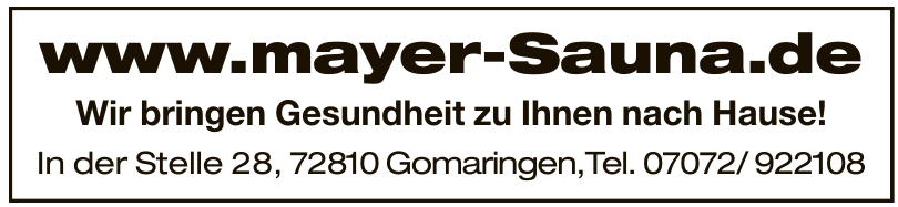 Mayer Sauna