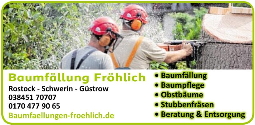 Baumfällung Fröhlich